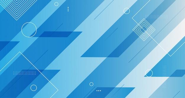Fond géométrique moderne bleu blanc