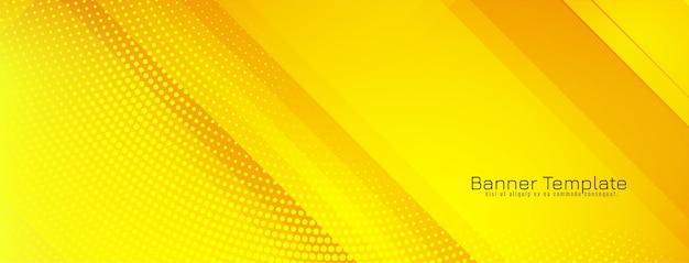 Fond géométrique moderne de couleur jaune vif