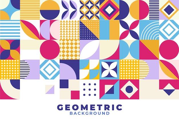 Fond géométrique en mosaïque plate