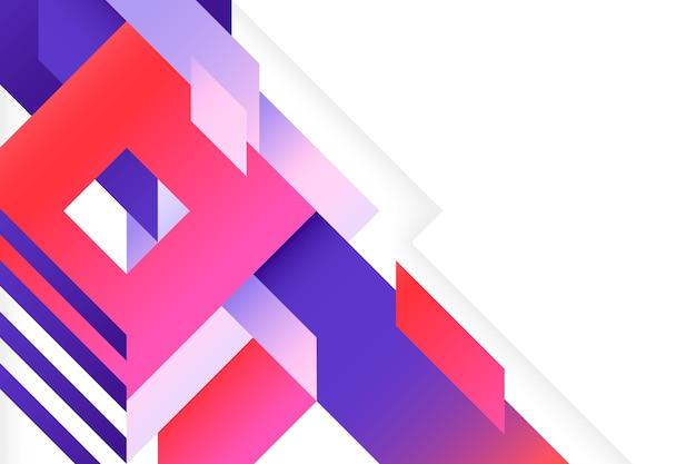 Fond géométrique multicolore dégradé