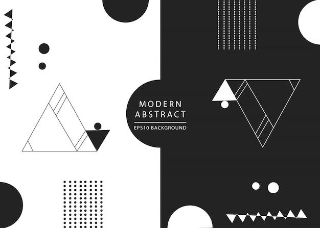 Fond géométrique noir et blanc moderne