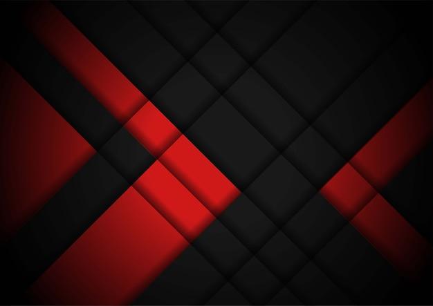 Fond géométrique noir rouge