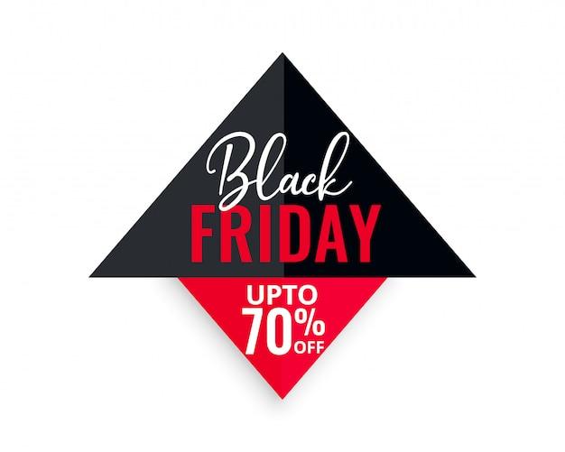 Fond géométrique noir vente vendredi