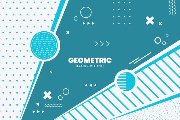 Fond Géométrique Plat Vecteur gratuit