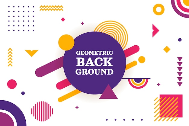 Fond géométrique plat