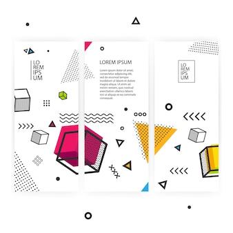 Fond géométrique pop art avec des éléments graphiques colorés.
