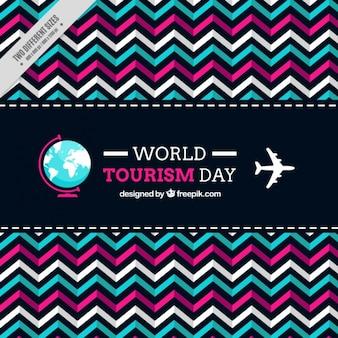 Fond géométrique pour célébrer la journée mondiale du tourisme