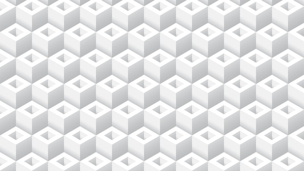 Fond géométrique propre cube blanc