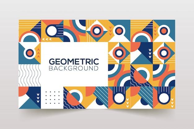 Fond géométrique rétro couverture géométrique