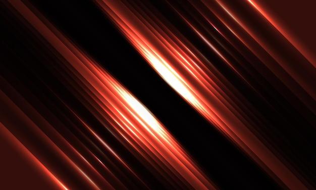 Fond géométrique rouge foncé avec des lignes lumineuses et des ombres diagonales rougeoyantes