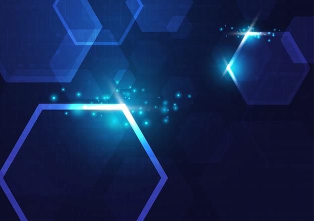 Fond géométrique et système de connexion de haute technologie