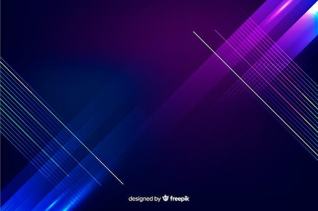 Fond géométrique de technologie néons