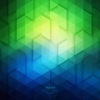 Fond géométrique de technologie de vecteur. fond bleu et vert de vecteur.