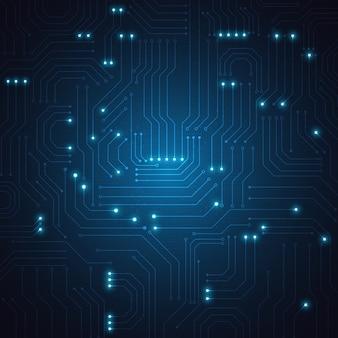 Fond géométrique de technologie