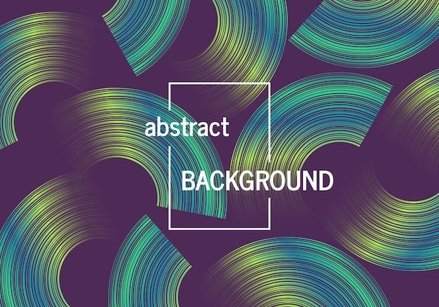 Fond géométrique tendance avec des formes de cercles abstraits. conception de modèle dynamique futuriste. illustration vectorielle
