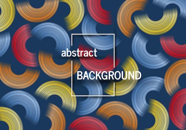 Fond géométrique tendance avec des formes de cercles abstraits conception de modèle dynamique futuriste
