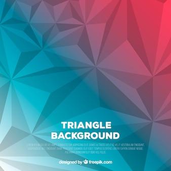 Fond géométrique avec des triangles