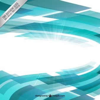 Fond géométrique turquoise en mouvement