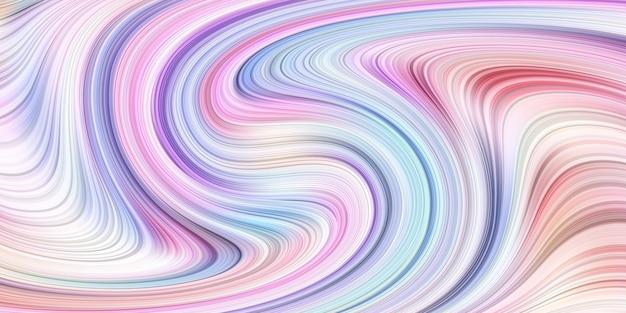 Fond géométrique de vagues de gradient dynamique liquide