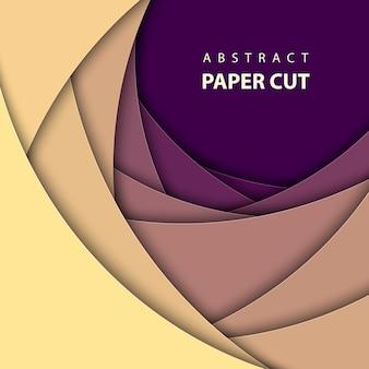 Fond géométrique de vecteur avec du papier multicolore a coupé des formes. style d'art abstrait papier 3d