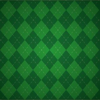 Fond géométrique vert, couleurs du jour patricks