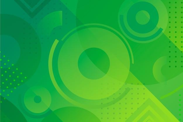Fond géométrique vert