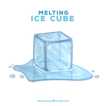 Fond de glace fondre