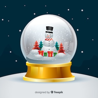 Fond de globe boule de neige de noël dégradé