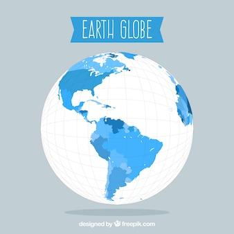 Fond globe terrestre gris