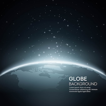 Fond avec globe terrestre