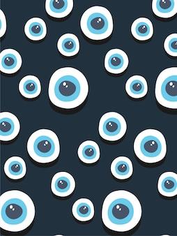Fond de globes oculaires