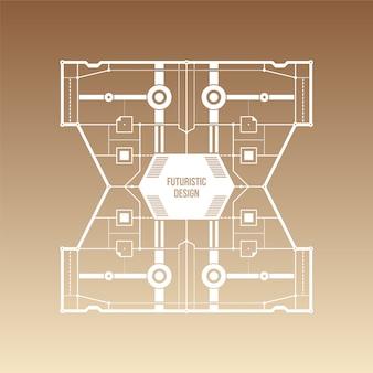 Fond de gradient brun avec un design futuriste