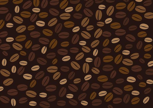 Fond de grains de café modèle vectorielle continue de grains de café