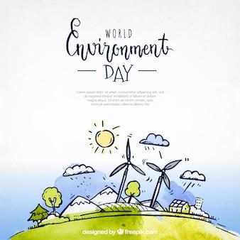 Fond grande de la journée mondiale de l'environnement