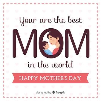Fond de grandes lettres pour la fête des mères