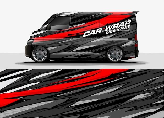 Fond graphique de van. concept de design abstrait de lignes modernes pour les graphiques de voitures et de véhicules