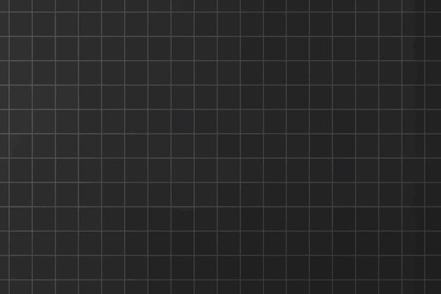 Fond de grille esthétique minimale de vecteur noir