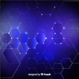 Fond de grille hexagonale