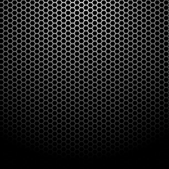 Fond de grille métallique hexagonal