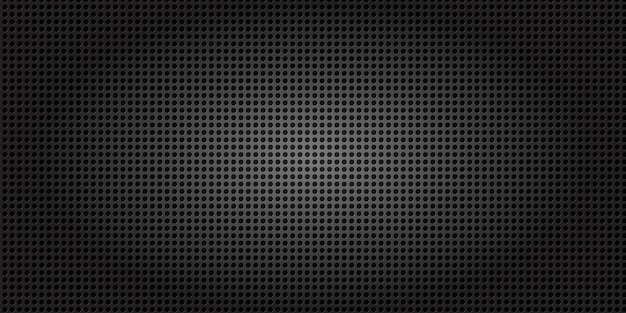 Fond de grille moderne en fibre de carbone noir foncé.