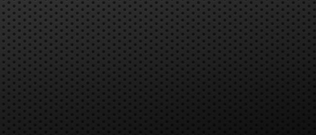 Fond de grille de trous géométriques surface d'ornement convexe avec noir rond