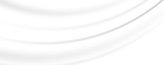 Fond Gris Blanc Abstrait Fond De Satin De Soie Blanc Fond De Texture Lisse Vague Vecteur Premium