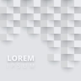 Fond gris et blanc avec damier abstrait