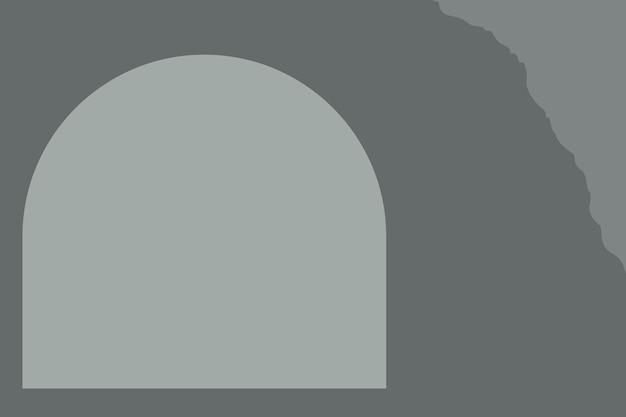 Fond gris avec cadre en arc