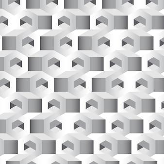 Fond gris hexagonal 3d
