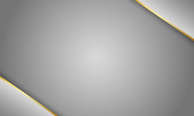 Fond gris métallisé avec ligne d'or gris métallisé et brillant technologie moderne