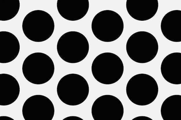 Fond gris, motif à pois en vecteur de conception simple noir