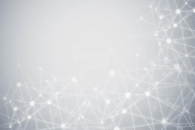 Fond gris de particules de technologie abstraite