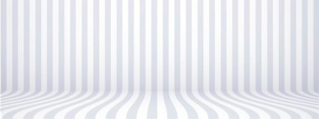 Fond gris studio avec rayures, horizontal, style rétro, illustration.