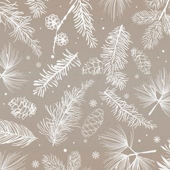 Fond gris avec vecteur de décoration hiver